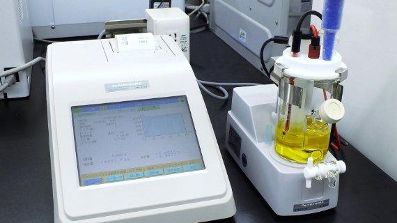 化学試験(水分)