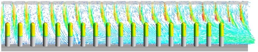 カプセル乾燥工程における気流解析